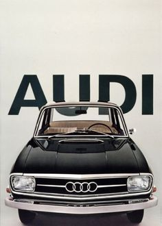 Vintage Audi Poster | AisleOne #product #design #identity #posters