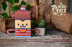 PAPER TOYS SERIE I on Behance #vector #monkey #illustration #paper #toy