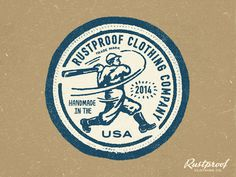 RUSTPROOF Clothing Patch #baseball
