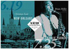 Jazz Arts Initiative: Concert Postcard on Behance #postcard #typography #music #jazz