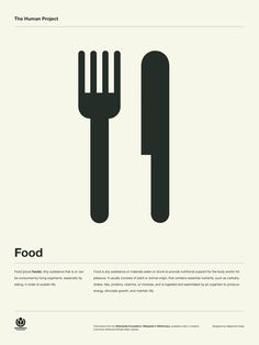 The Human Project Poster (Food) #inspiration #creative #information #pictogram #collection #design #graphic #human #grid #system #poster #typography