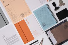 B|D Landscape Architects #stamp #branding #print #orange #logo #identity #notebook #grey