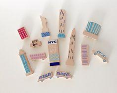Wanderlust Play Sets on Behance #toys #designer #once #wood #kids #york #new