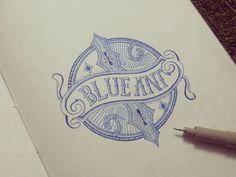 Blue Ant Branding #logo #branding #restaurant #vintage