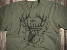 Hunter Gatherer_2_drib outdoorsmen designwisely tshirt graphic bruner mike design illustration elk