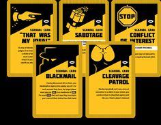 Scandal cards #card #designs
