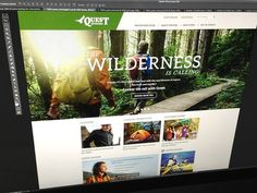 Quest Outdoors Redesign #wilderness #design #web