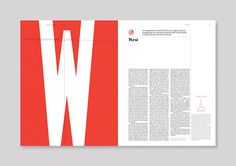 magazine layout, type, tipography