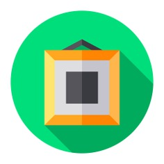 See more icon inspiration related to art, frame, art and design, furniture and household, Tools and utensils, framed, hanging, artistic, image, museum, painting and picture on Flaticon.