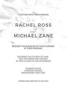 Modern Marble - Wedding Invitations #paperlust #weddinginvitation #weddinginspiration #flower #cards #paper #design #digitalcard
