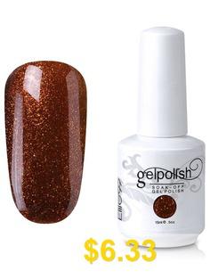Soak #Off #UV #LED #Multi-color #Gel #Polish #Elite99 #Nail #Art #Glitter #Clear #15ml #- ##21