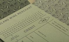 Letterpress print for Nashville based Woodland Wine Merchant by Perky Bros #identity #branding #stationery