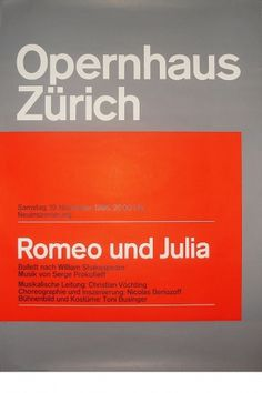Josef Müller-Brockmann ROMEO UND JULIA [ 128CM X 90CM ] via www.blanka.co.uk