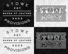 Logo work for Stowe Provisions by Nicholas Samendinger