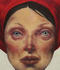 """Deep II (detail)"" - Afarin Sajedi #women #portrait #painting #art"