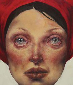 """Deep II (detail)"" - Afarin Sajedi #women #portrait #painting #art"