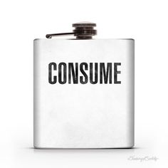 They Live: CONSUME 6oz Hip Flask #flask #they #consume #80s #lived #movies