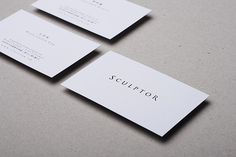 sculptor business card #business card #graphic design