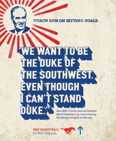 SMU, Dallas/Athletic Department Men #poster