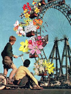 All Fun & Games - Eugenia's Collages #collage #vintage #art
