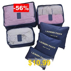Travel #Packing #Cube #Luggage #Compression #Pouches #Laundry #Toiletry #Storage #6pcs #- #PEACOCK #BLUE