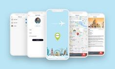 Mobile app design & develop by iGlobsyn team. App name is Landmarker. #illustration #uiux #appdesign