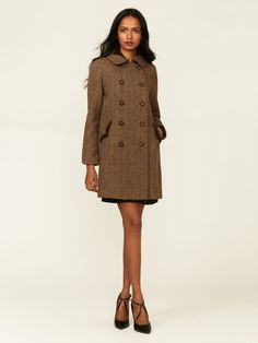 Tocca Diamond Snake Tweed Coat #fashion #wool #jacket #woman