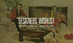 WANKEN - The Blog of Shelby White #christmas #wishlist #vintage #designers