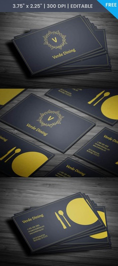 Free Food Business Card Template