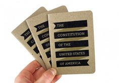 The U.S. Constitution « Below The Clouds #printed #matter