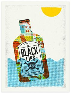 The Black Lips - Gig Poster #giant #modern #gig #design #print #lips #black #the #screen #illustration #poster
