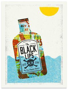 The Black Lips - Gig Poster #design #illustration #poster #gig poster #screen print #the black lips #modern giant