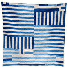 Zen Quilt by Folk Fibers #quilt #indigo #hand-dyed #fibers