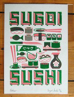 Sugoi Sushi japan #poster