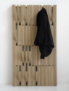 swissmiss | Piano Hanger #piano #tan #j #design #wood #furniture #hanger #coat