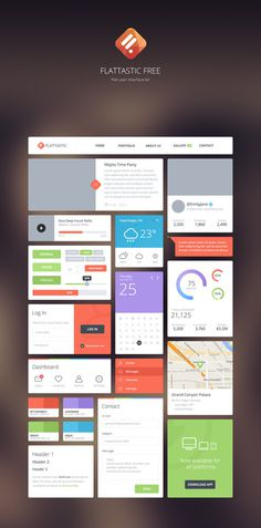 Psd user interface kit flat psd - PSD Files