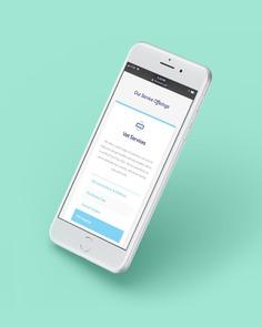 Mobile Website Design Example #website #design #houston