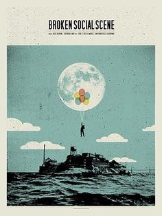 FFFFOUND! | GigPosters.com - Broken Social Scene - Julie Doiron #screen #print