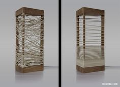 Wooden Lamp with Elastic Shades that Can be Formed As You Like SÖHKA image #lamp #design #elastic