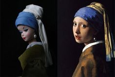 Barbie as Famous Works of Art by Jocelyne Grivaud #history #contemporary #art #museums #barbie