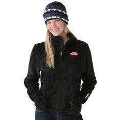 North Face Pink Ribbon Osito Jacket Black-Womens #jacket