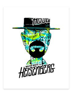 Heisenberg Screen Print by Wesley Eggebrecht #walter #white #breaking #meth #print #heisenberg #screen #poster #bad #typography