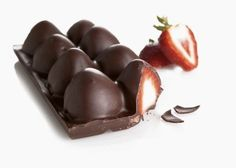 Ice Tray Chocolate Strawberries