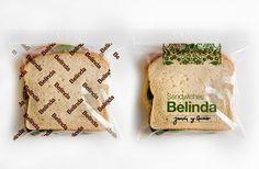 22DG Portfolio Belinda #sandwich #water #packaging #belinda #identity #bag #helvetica #typography