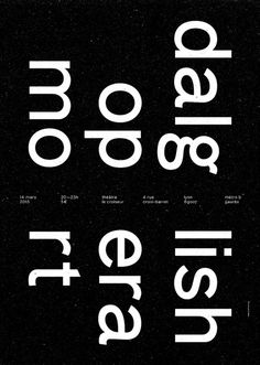 Editorial, Poster, typography