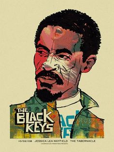 Black Keys -Ike « Gig Poster Archive « Methane Studios #mark #ike #black #methane #studio #mcdevitt #turner #keys