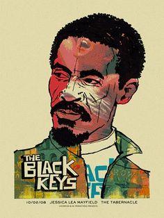 Black Keys -Ike « Gig Poster Archive « Methane Studios #mark #ike #black #methane #studio #mcdevitt #turner #keys