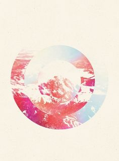 MTNS Art Print by Luke Flynt | Society6 #concentric #design #graphic #minimal #circle #collage