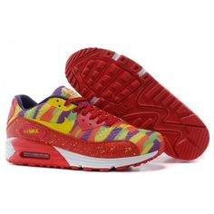 Nike Air Max Womens Shoes 90 2015 Gold Green Red