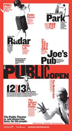 """Open Public"" print advertisement from Sunday's edition of The New York Times. #poster #typography"